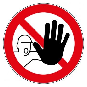 Aufkleber Verbotszeichen Zutritt für Unbefugte verboten