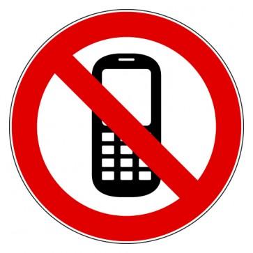 Aufkleber Verbotszeichen Mobilfunk verboten