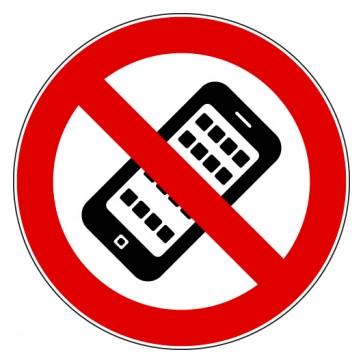 Aufkleber Mobilfunk Handy verboten