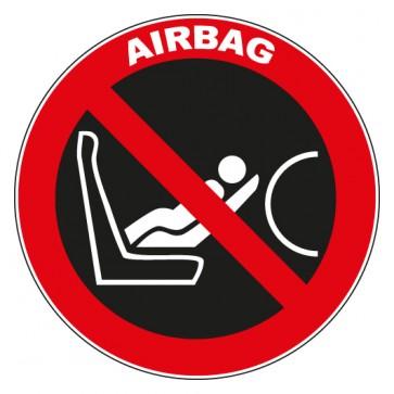 Aufkleber Verbotszeichen Caution Airbag