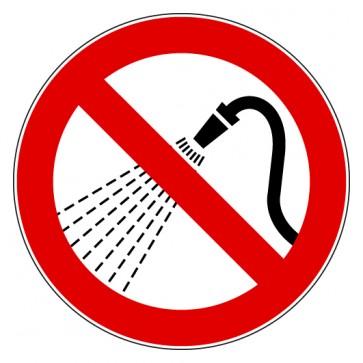 Aufkleber Mit Wasser spritzen verboten