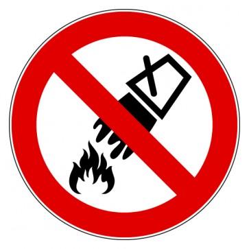 Aufkleber Verbotszeichen Mit Wasser löschen verboten