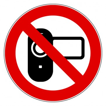 Aufkleber Verbotszeichen Filmen verboten