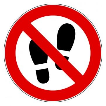 Verbotsschild Betreten der Fläche verboten