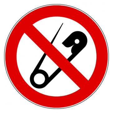 Verbotsschild Keine Nadeln - Spitze Gegenstände