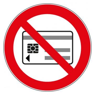 Verbotsschild Mitführen von magnetischen oder elektronischen Datenträgern verboten