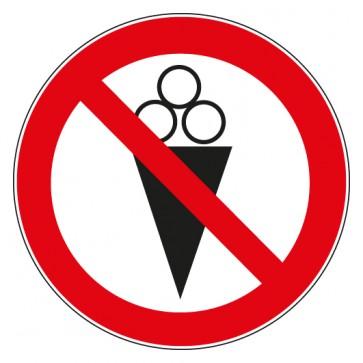 Verbotsschild Eis essen verboten