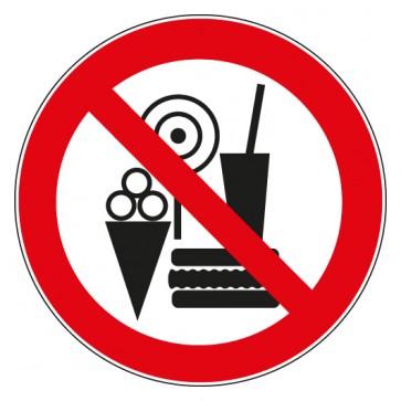 Verbotsschild Snacks verboten