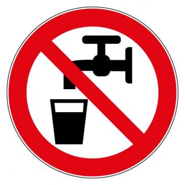 Aufkleber Kein Trinkwasser