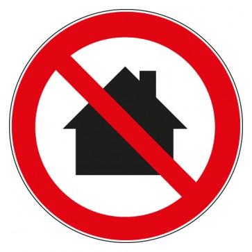 Verbotsschild Nicht in Wohngebieten verwenden
