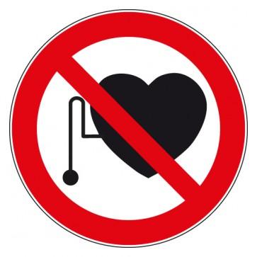 Aufkleber Verbotszeichen Verbot für Personen mit Herzschrittmacher
