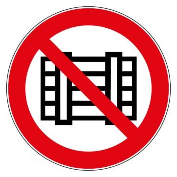Aufkleber Verbotszeichen Abstellen oder Lagern verboten