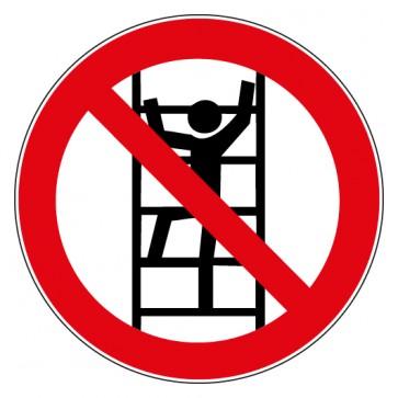 Aufkleber Verbotszeichen Besteigen für Unbefugte verboten