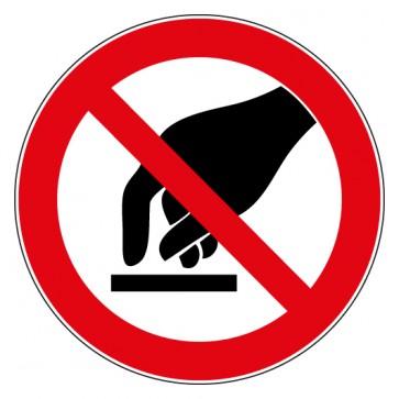 Aufkleber Verbotszeichen Berühren verboten