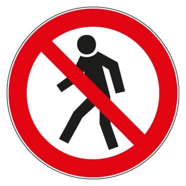 Aufkleber Verbotszeichen Für Fußgänger verboten