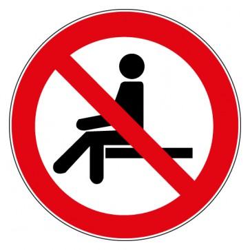 Aufkleber Verbotszeichen Sitzen verboten