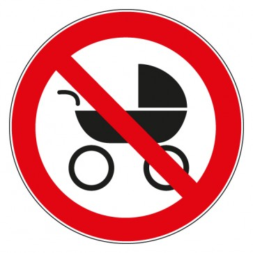 Aufkleber Verbotszeichen Kinderwagen verboten