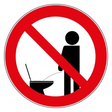 Aufkleber Verbotszeichen Pinkeln im Stehen verboten