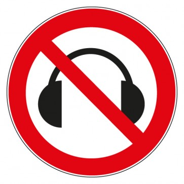 Verbotsschild Kopfhörer Musik verboten