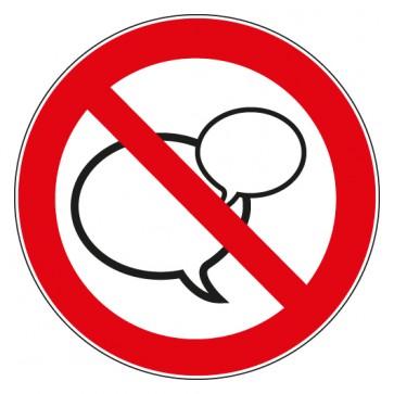 Aufkleber Sprechen verboten