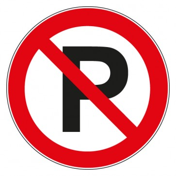 Aufkleber Verbotszeichen Parken verboten