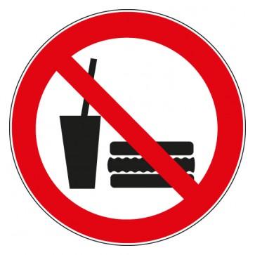 Aufkleber Verbotszeichen Essen und Trinken verboten