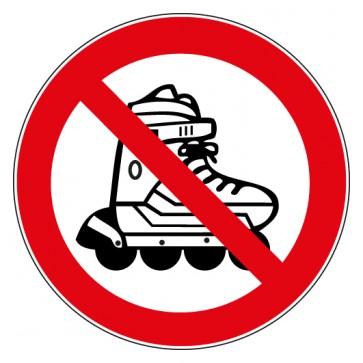Aufkleber Inline Skates verboten
