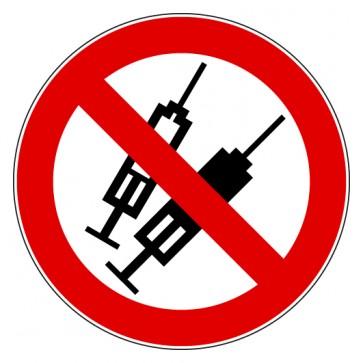 Aufkleber Verbotszeichen Spritzen Harte Drogen verboten