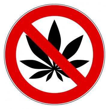 Aufkleber Verbotszeichen Cannabis Drogen verboten