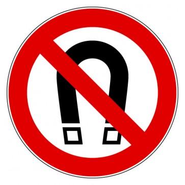Verbotsschild Magnet verboten
