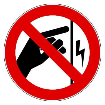 Verbotsschild Nicht berühren Gehäuse steht unter Spannung