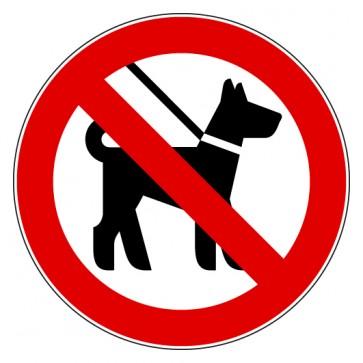 Aufkleber Verbotszeichen Mitführen von Tieren verboten
