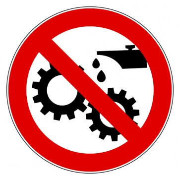 Aufkleber Verbotszeichen Ölen Schmieren verboten
