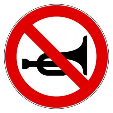 Verbotsschild Hupen verboten