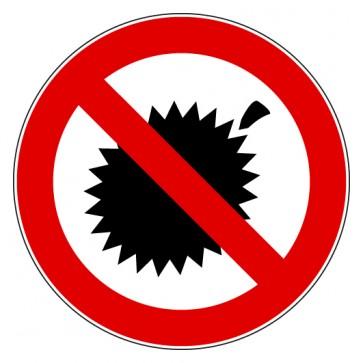 Aufkleber Verbotszeichen Durians verboten