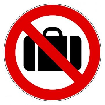 Verbotsschild Gepäck verboten
