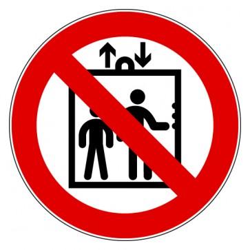 Aufkleber Verbotszeichen Personenbeförderung im Aufzug verboten