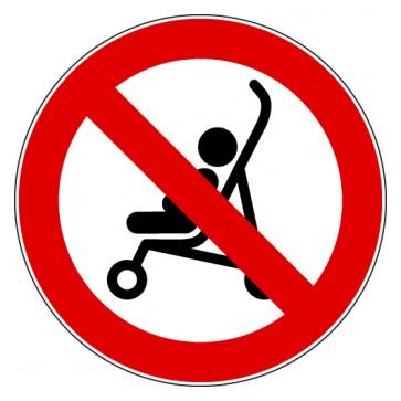 Verbotsschild Kinderwagen verboten