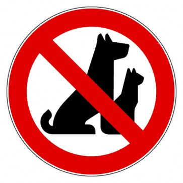 Aufkleber Verbotszeichen Hunde verboten Draußen bleiben