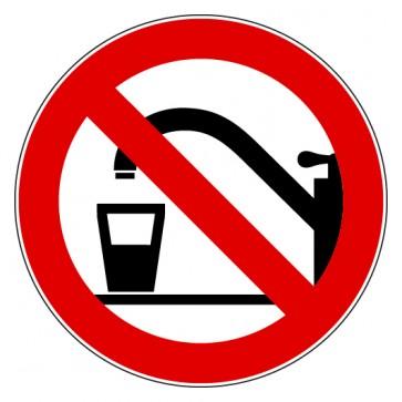 Aufkleber Verbotszeichen Kein Trinkwasser