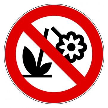 Verbotsschild Blumen pflücken verboten
