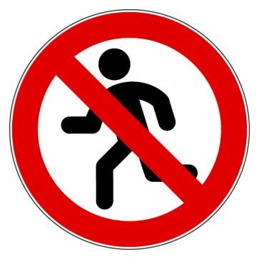 Verbotsschild Rennen Laufen verboten
