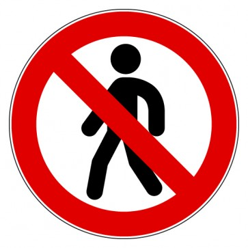 Aufkleber Gehen verboten