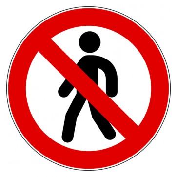 Aufkleber Verbotszeichen Gehen verboten