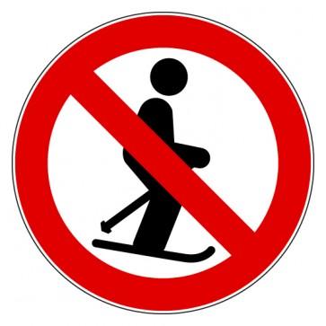 Aufkleber Skifahren verboten