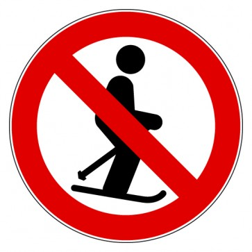 Aufkleber Verbotszeichen Skifahren verboten