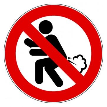 Aufkleber Furzen verboten