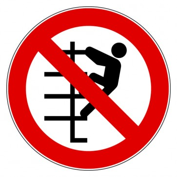 Verbotsschild Besteigen für Unbefugte verboten