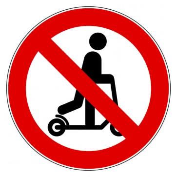 Aufkleber Verbotszeichen Roller fahren verboten
