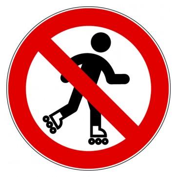 Aufkleber Verbotszeichen Rollschuh laufen verboten